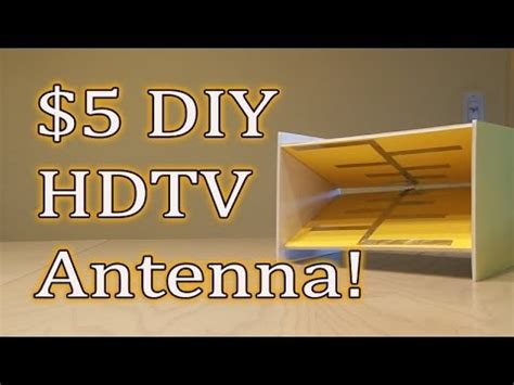 5 diy hdtv antenna get free tv youtube