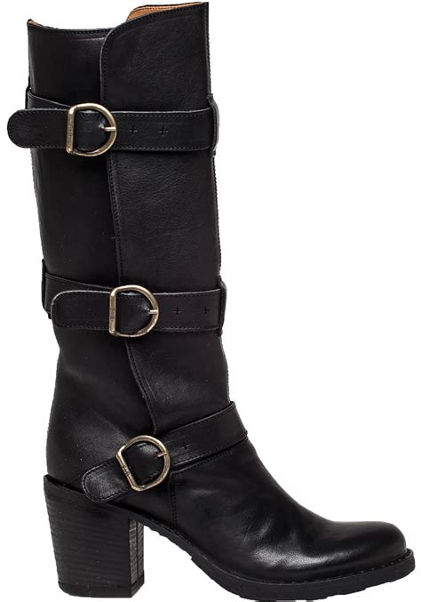 fiorentini baker lety leather boots in black lyst