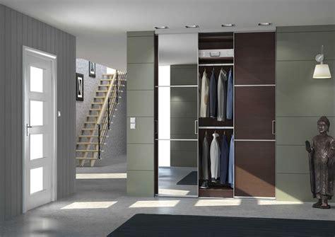 portes de placard coulissantes avec decor meleze brun