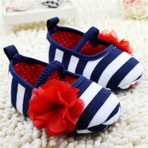 Prewalker Baby Boy Sepatu Bayi Blue And White infant toddler stripe flower crib shoes soft sole kid baby shoes prewalker alishoppbrasil