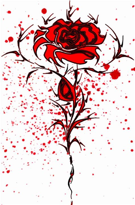 bloody rose tattoo tattoos images by