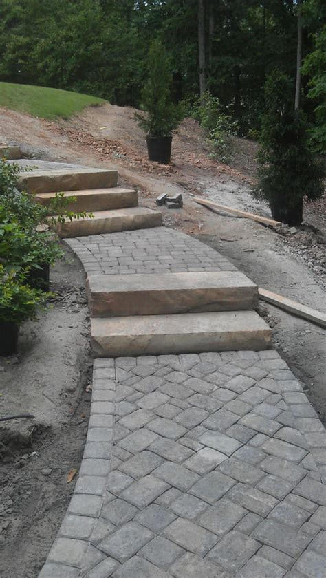patio and walkway installation in woodstock ga