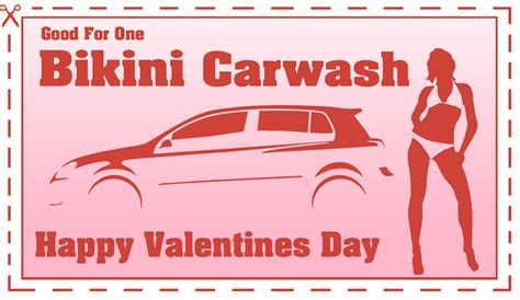 bikini car wash coupon perfect for valentine s day gift