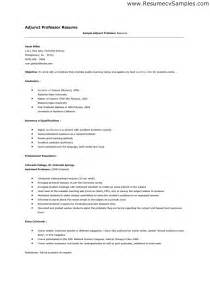 Cover Letter Sle For Professor Position by Adjunct Professor Resume Sales Professor Lewesmr