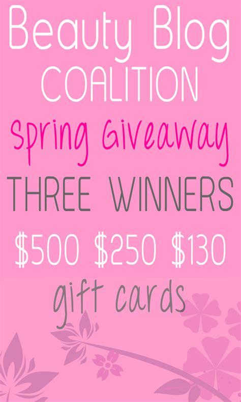 Beauty Blog Giveaway - beauty blog coalition massive spring giveaway