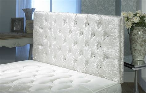 Large Bed Headboards by California Crushed Velvet Buttoned Headboard