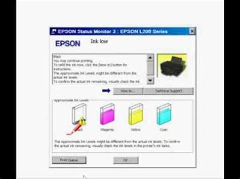 reset epson l200 nivel de tinta reset on 237 vel de tintas l100 l110 l200 l210 l300 l350