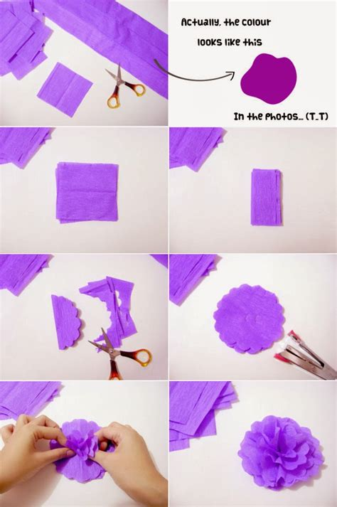 How To Make A With Crepe Paper - 20 diy crepe paper flowers with tutorials guide patterns