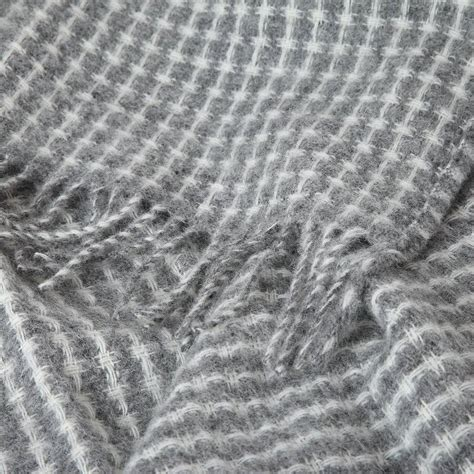 the woven wool woven wool grey throw by dreamwool blanket co