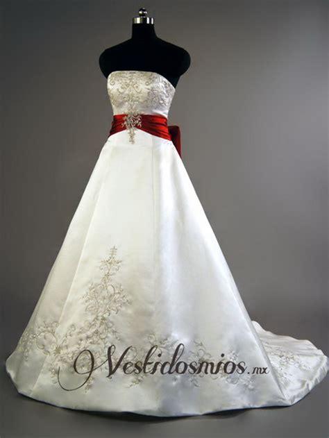 imagenes de vestidos de novia rojo vestidos de novia con rojo