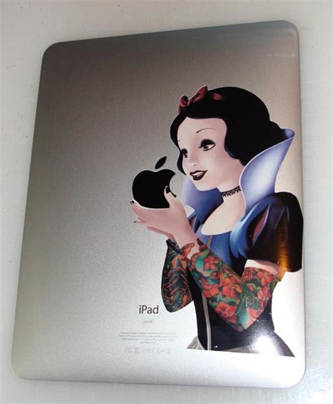 tattooed snow white snow white apple design