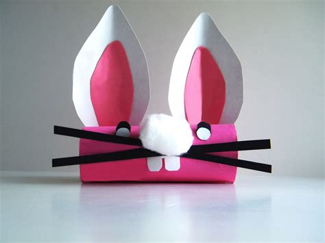 Toilet Paper Roll Bunny Craft - preschool crafts for easter bunny toilet paper