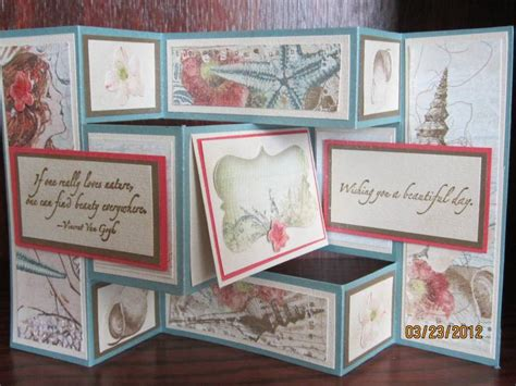 how to make a tri fold card my tri fold card by auntie beaner at