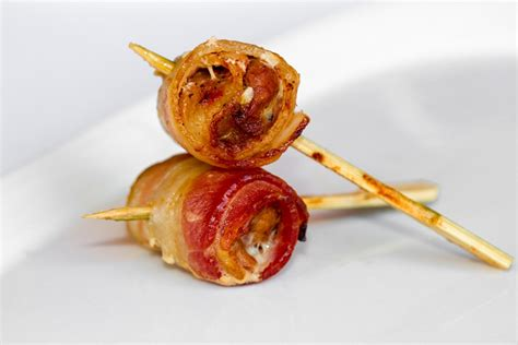 Pork Bacon By Aypanda Shop shop pork appetizers with bbq sauce wrapped in bacon at