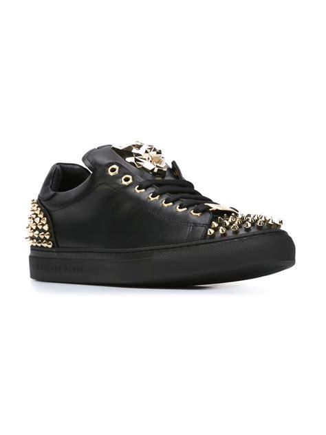open sneakers philipp plein open sneakers in black for lyst