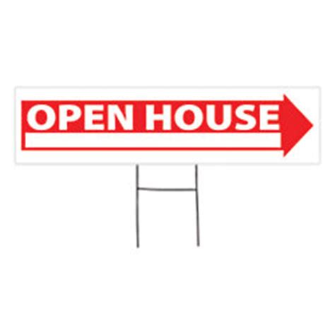open house signs home depot outdoor house sign open house 6 x 24 by office depot officemax