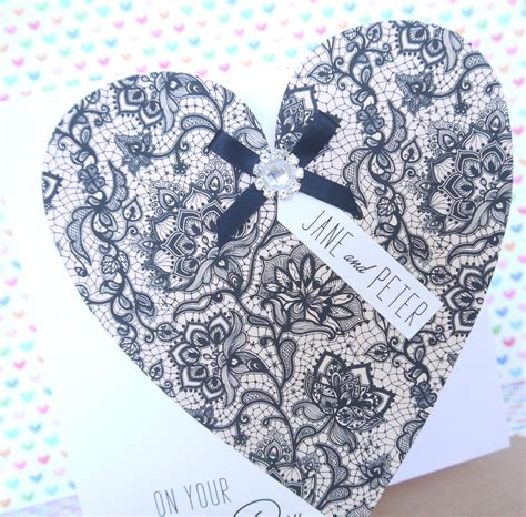 Handmade Wedding Cards Uk - personalised handmade wedding day card creative handmade