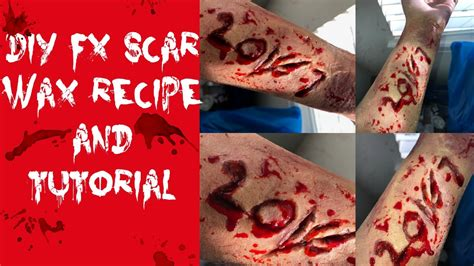 scar wax tutorial diy scar wax tutorial youtube