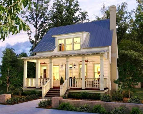 small cottage house plans with porches tin roof home house cabin