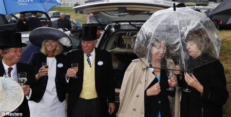 Last Day At Royal Ascot Resembles A Muddy Day At Glastonbury by Summer Wind And Buffet Britain As Glastonbury