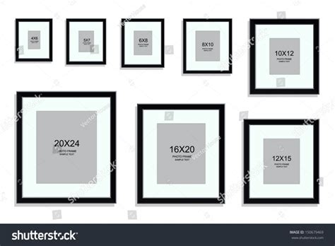 picture frames what are standard picture frame sizes