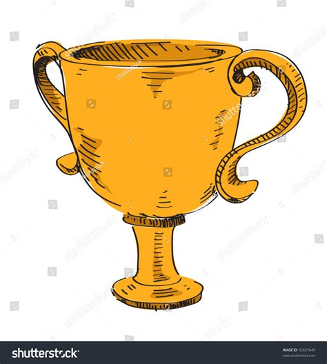 doodle trophies prize trophy icon drawing sketch