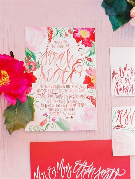 painted watercolor wedding invitations watercolor blossoms painted wedding invitations