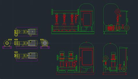 booster pump cad block  typical drawing  designers