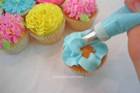 flower decorating tips bouquet of cupcakes tutorial mycakeschool com my cake