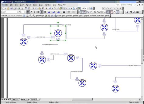 microsoft visio network diagram automated network diagram using ms visio