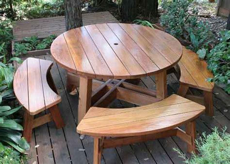 how to build a round picnic table and benches how to build a round picnic table and benches online