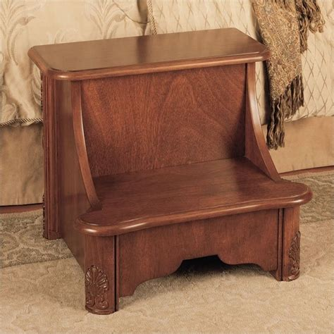 powell furniture woodbury mahogany bed step stool ebay