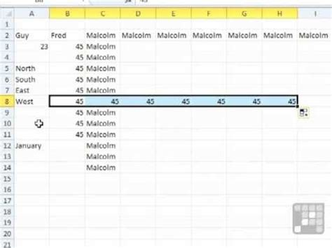 download pattern fill excel 2010 excel 2010 tutorial the fill handle youtube