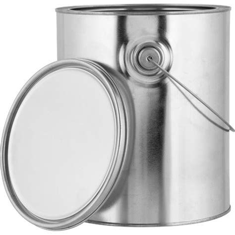 1 gallon metal 1 gallon metal paint can with ears bail and lid unlined