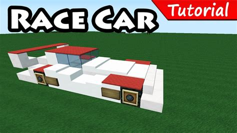 How Do You Make A Car Out Of Paper - how to make race sport car minecraft vehicle tutorial