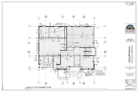 floor framing plan monsef donogh design grouphoang residence sheet a201 2