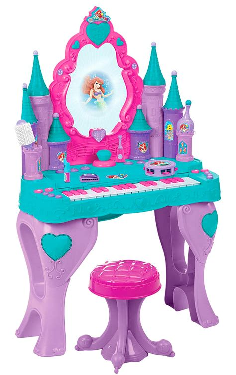 Disney Princess Magical Talking Vanity Disney Princess Ariel Mermaid Piano Keyboard Talking Vanity Child Size Interactive