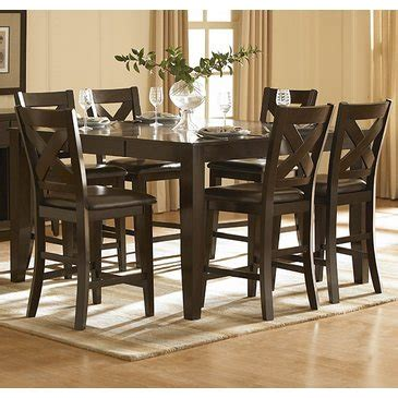 7 piece counter height dining room sets homelegance crown point 7 piece counter height dining room