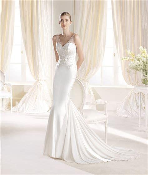 sheer beaded wedding dress mermaid v neck and back chiffon beaded wedding dress with