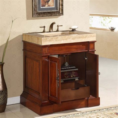 bathroom single sink vanity cabinet 32 5 quot silkroad stanton single sink cabinet bathroom