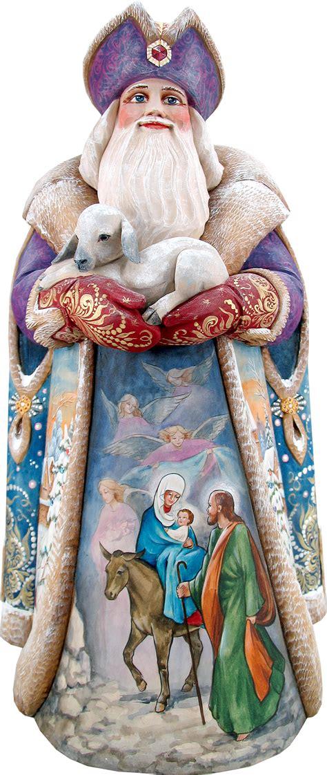 wood carved santa figurines celestial santa wood carved figurine l28832