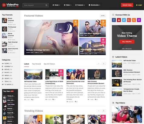 youtube themes gallery 15 best youtube style themes for wordpress 2018 siteturner