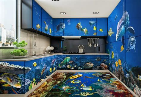 3d stereoscopic wallpaper custom 3d flooring pvc self