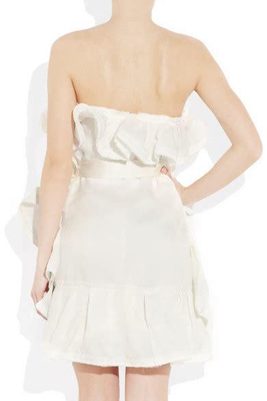 Lanvin Tiered Silk Gazar Dress by Lanvin Tiered Silk Gazar Mini Dress Net A Porter