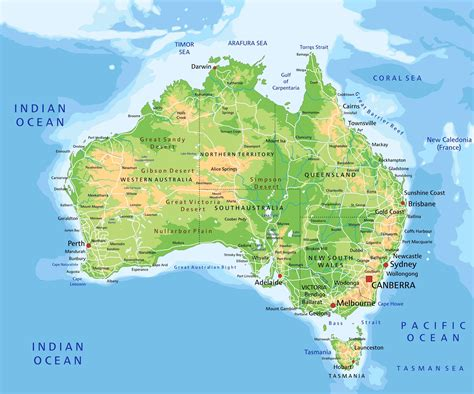 map of australia in the world map of australia guide of the world