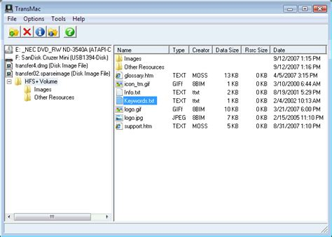 file format hfs transmac windows software to open mac apfs hfs disks and