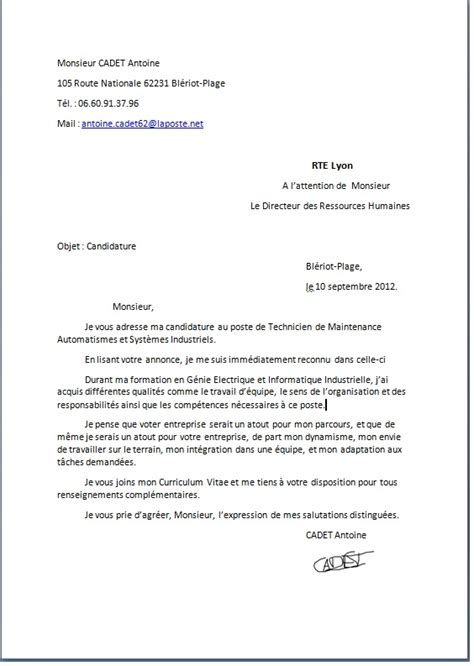 Lettre De Motivation De Diplomã Translation Lettre De Motivation Employment Application