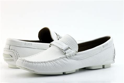 mens white loafers hugo s leather shoes dreper us white loafers st