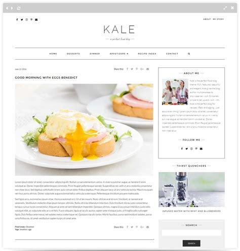 kale pro food blog wordpress theme themes templates