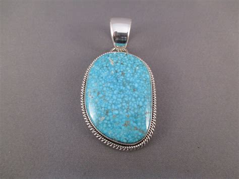 sterling silver and turquoise mountain turquoise pendant